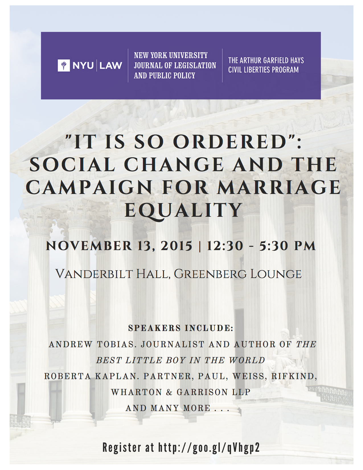 """It Is So Ordered"": Social Change and the Campaign for Marriage Equality"